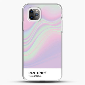 Hipab Holographic Iridescent Pantone Aesthetic Background iPhone 11 Pro Max Case, White Plastic Case | JoeYellow.com