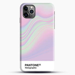 Hipab Holographic Iridescent Pantone Aesthetic Background iPhone 11 Pro Max Case, Black Snap 3D Case | JoeYellow.com