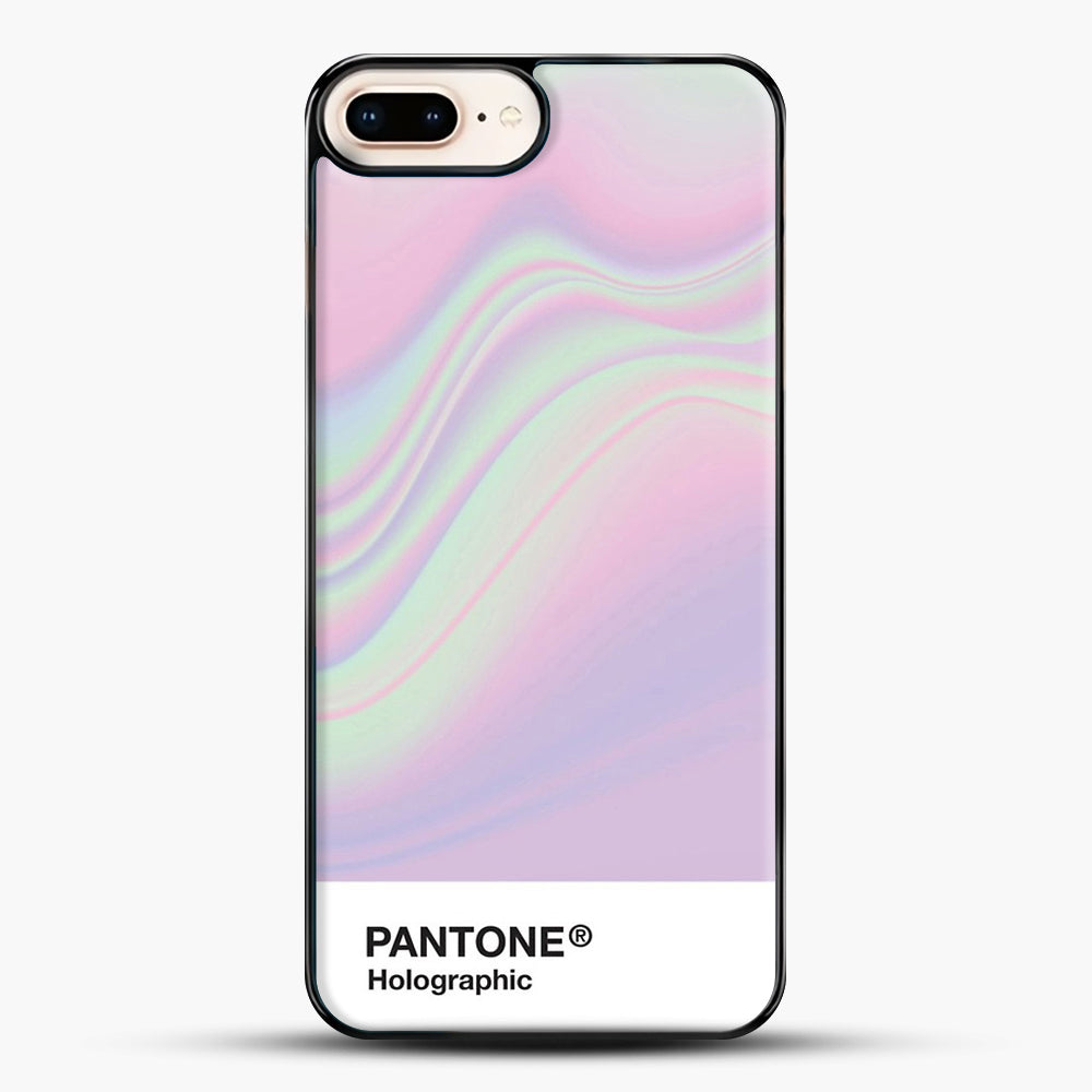 Hipab Holographic Iridescent Pantone Aesthetic Background iPhone 8 Plus Case, Black Plastic Case | JoeYellow.com