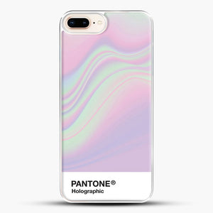 Hipab Holographic Iridescent Pantone Aesthetic Background iPhone 8 Plus Case, White Plastic Case | JoeYellow.com