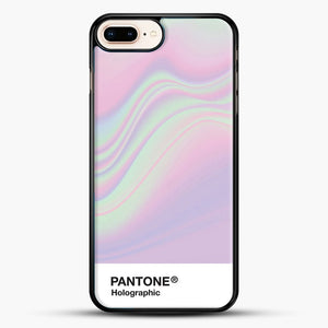 Hipab Holographic Iridescent Pantone Aesthetic Background iPhone 8 Plus Case, Black Rubber Case | JoeYellow.com