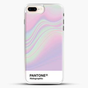 Hipab Holographic Iridescent Pantone Aesthetic Background iPhone 8 Plus Case, White Rubber Case | JoeYellow.com