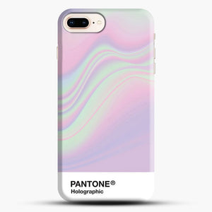 Hipab Holographic Iridescent Pantone Aesthetic Background iPhone 8 Plus Case, Black Snap 3D Case | JoeYellow.com