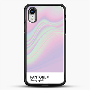 Hipab Holographic Iridescent Pantone Aesthetic Background iPhone XR Case, Black Rubber Case | JoeYellow.com