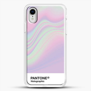 Hipab Holographic Iridescent Pantone Aesthetic Background iPhone XR Case, White Rubber Case | JoeYellow.com