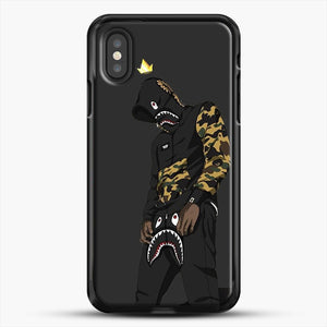 Hypebeast iPhone XS Case, Black Rubber Case | JoeYellow.com