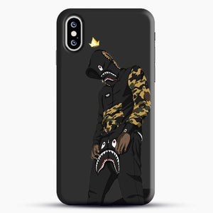 Hypebeast iPhone XS Case, Black Snap 3D Case | JoeYellow.com