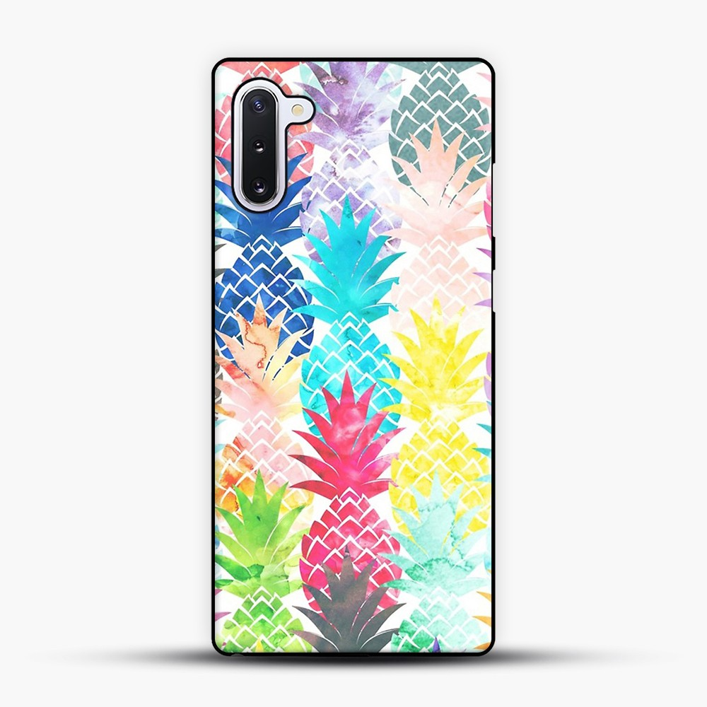 Hawaiian Pineapple Pattern Tropical Watercolor Samsung Galaxy Note 10 Case