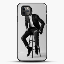 Load image into Gallery viewer, Hero Fiennes Tiffin Am Sitting iPhone 11 Pro Max Case, Black Plastic Case | JoeYellow.com