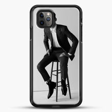 Load image into Gallery viewer, Hero Fiennes Tiffin Am Sitting iPhone 11 Pro Max Case, Black Rubber Case | JoeYellow.com