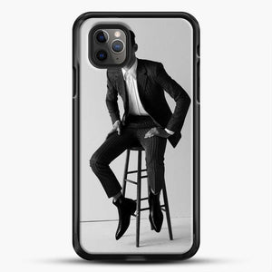 Hero Fiennes Tiffin Am Sitting iPhone 11 Pro Max Case, Black Rubber Case | JoeYellow.com