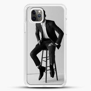 Hero Fiennes Tiffin Am Sitting iPhone 11 Pro Max Case, White Rubber Case | JoeYellow.com