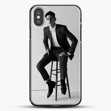 Load image into Gallery viewer, Hero Fiennes Tiffin Am Sitting iPhone X Case, Black Plastic Case | JoeYellow.com