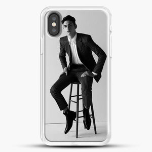 Hero Fiennes Tiffin Am Sitting iPhone X Case, White Rubber Case | JoeYellow.com