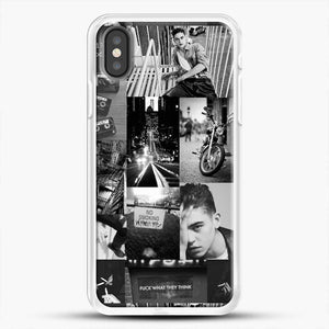 Hero Fiennes Tiffin Bad Boy iPhone X Case, White Rubber Case | JoeYellow.com