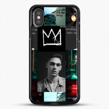 Load image into Gallery viewer, Hero Fiennes Tiffin City Deweller iPhone X Case, Black Rubber Case | JoeYellow.com