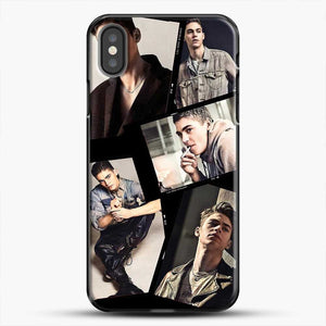 Hero Fiennes Tiffin Cool Photo Collage iPhone X Case, Black Plastic Case | JoeYellow.com