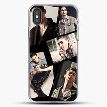 Load image into Gallery viewer, Hero Fiennes Tiffin Cool Photo Collage iPhone X Case, White Plastic Case | JoeYellow.com