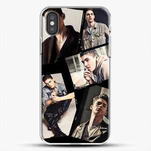 Hero Fiennes Tiffin Cool Photo Collage iPhone X Case, White Plastic Case | JoeYellow.com