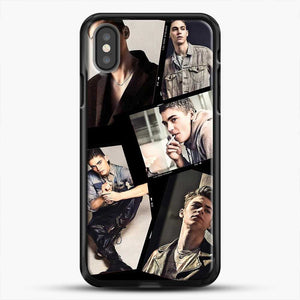 Hero Fiennes Tiffin Cool Photo Collage iPhone X Case, Black Rubber Case | JoeYellow.com