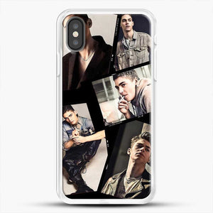 Hero Fiennes Tiffin Cool Photo Collage iPhone X Case, White Rubber Case | JoeYellow.com