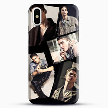 Load image into Gallery viewer, Hero Fiennes Tiffin Cool Photo Collage iPhone X Case, Black Snap 3D Case | JoeYellow.com