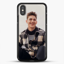 Load image into Gallery viewer, Hero Fiennes Tiffin Cool iPhone X Case, Black Rubber Case | JoeYellow.com