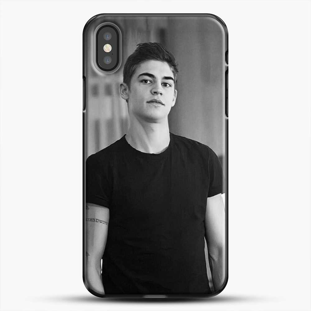 Hero Fiennes Tiffin Cute Boys iPhone X Case, Black Plastic Case | JoeYellow.com