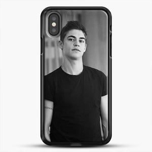Hero Fiennes Tiffin Cute Boys iPhone X Case, Black Rubber Case | JoeYellow.com