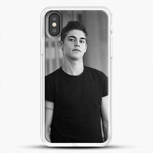 Hero Fiennes Tiffin Cute Boys iPhone X Case, White Rubber Case | JoeYellow.com