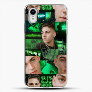 Hero Fiennes Tiffin Green Scene iPhone XR Case, White Plastic Case | JoeYellow.com