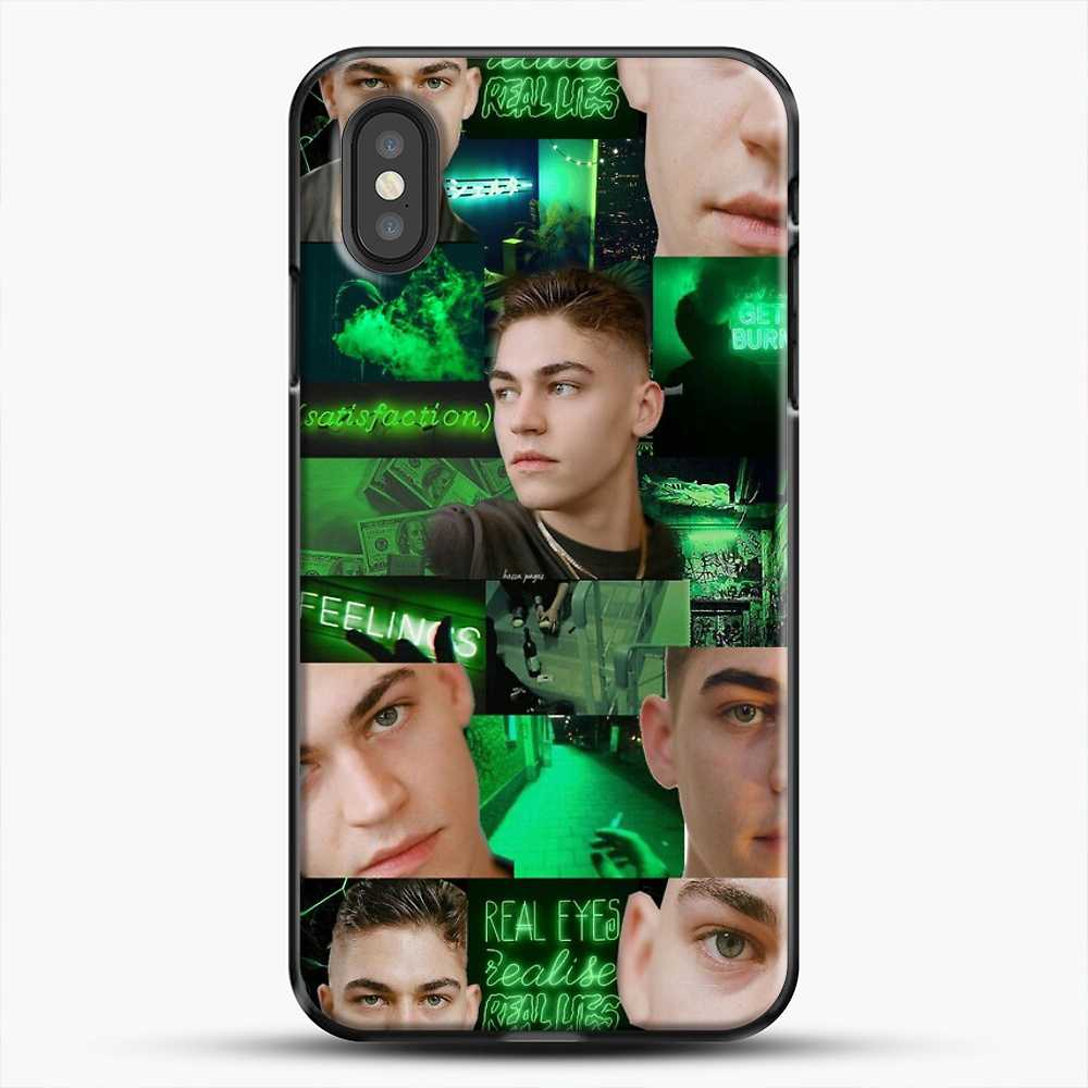 Hero Fiennes Tiffin Green Scene iPhone XS Case, Black Plastic Case | JoeYellow.com