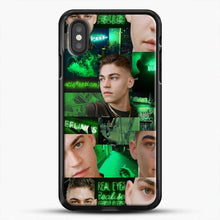 Load image into Gallery viewer, Hero Fiennes Tiffin Green Scene iPhone XS Case, Black Rubber Case | JoeYellow.com