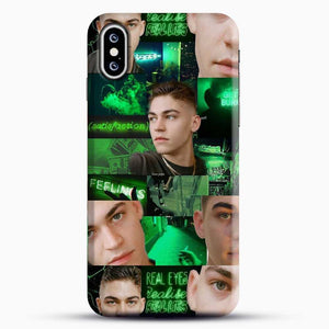 Hero Fiennes Tiffin Green Scene iPhone XS Case, Black Snap 3D Case | JoeYellow.com