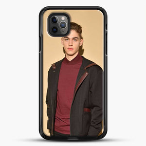 Hero Fiennes Tiffin Handsome Man iPhone 11 Pro Max Case, Black Rubber Case | JoeYellow.com