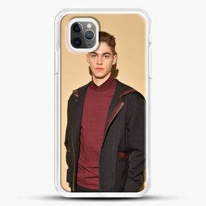 Hero Fiennes Tiffin Handsome Man iPhone 11 Pro Max Case, White Rubber Case | JoeYellow.com