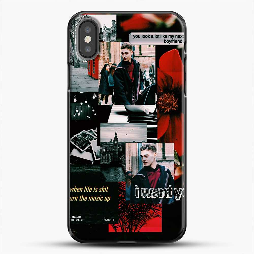 Hero Fiennes Tiffin I Want You iPhone X Case, Black Plastic Case | JoeYellow.com