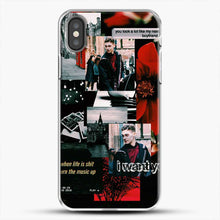 Load image into Gallery viewer, Hero Fiennes Tiffin I Want You iPhone X Case, White Plastic Case | JoeYellow.com