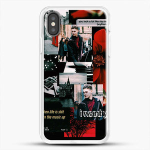 Hero Fiennes Tiffin I Want You iPhone X Case, White Rubber Case | JoeYellow.com