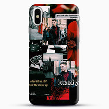 Load image into Gallery viewer, Hero Fiennes Tiffin I Want You iPhone X Case, Black Snap 3D Case | JoeYellow.com