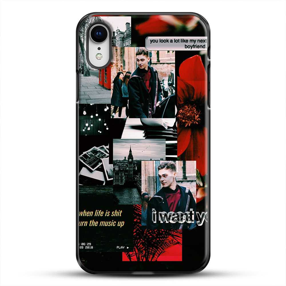 Hero Fiennes Tiffin I Want You iPhone XR Case, Black Plastic Case | JoeYellow.com