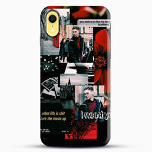 Load image into Gallery viewer, Hero Fiennes Tiffin I Want You iPhone XR Case, Black Snap 3D Case | JoeYellow.com
