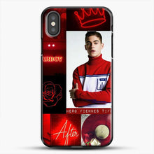 Load image into Gallery viewer, Hero Fiennes Tiffin In Red iPhone X Case, Black Plastic Case | JoeYellow.com