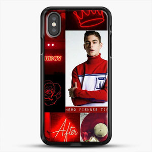 Hero Fiennes Tiffin In Red iPhone X Case, Black Rubber Case | JoeYellow.com