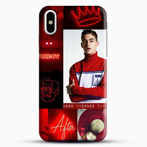 Hero Fiennes Tiffin In Red iPhone X Case, Black Snap 3D Case | JoeYellow.com