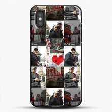 Load image into Gallery viewer, Hero Fiennes Tiffin London Boy At Heart iPhone XS Case, Black Plastic Case | JoeYellow.com