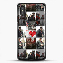 Load image into Gallery viewer, Hero Fiennes Tiffin London Boy At Heart iPhone XS Case, Black Rubber Case | JoeYellow.com