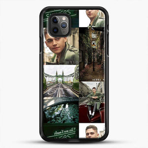 Hero Fiennes Tiffin London Green iPhone 11 Pro Max Case, Black Rubber Case | JoeYellow.com