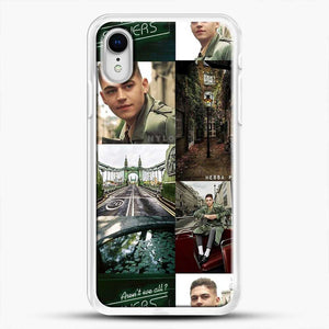 Hero Fiennes Tiffin London Green iPhone XR Case, White Rubber Case | JoeYellow.com
