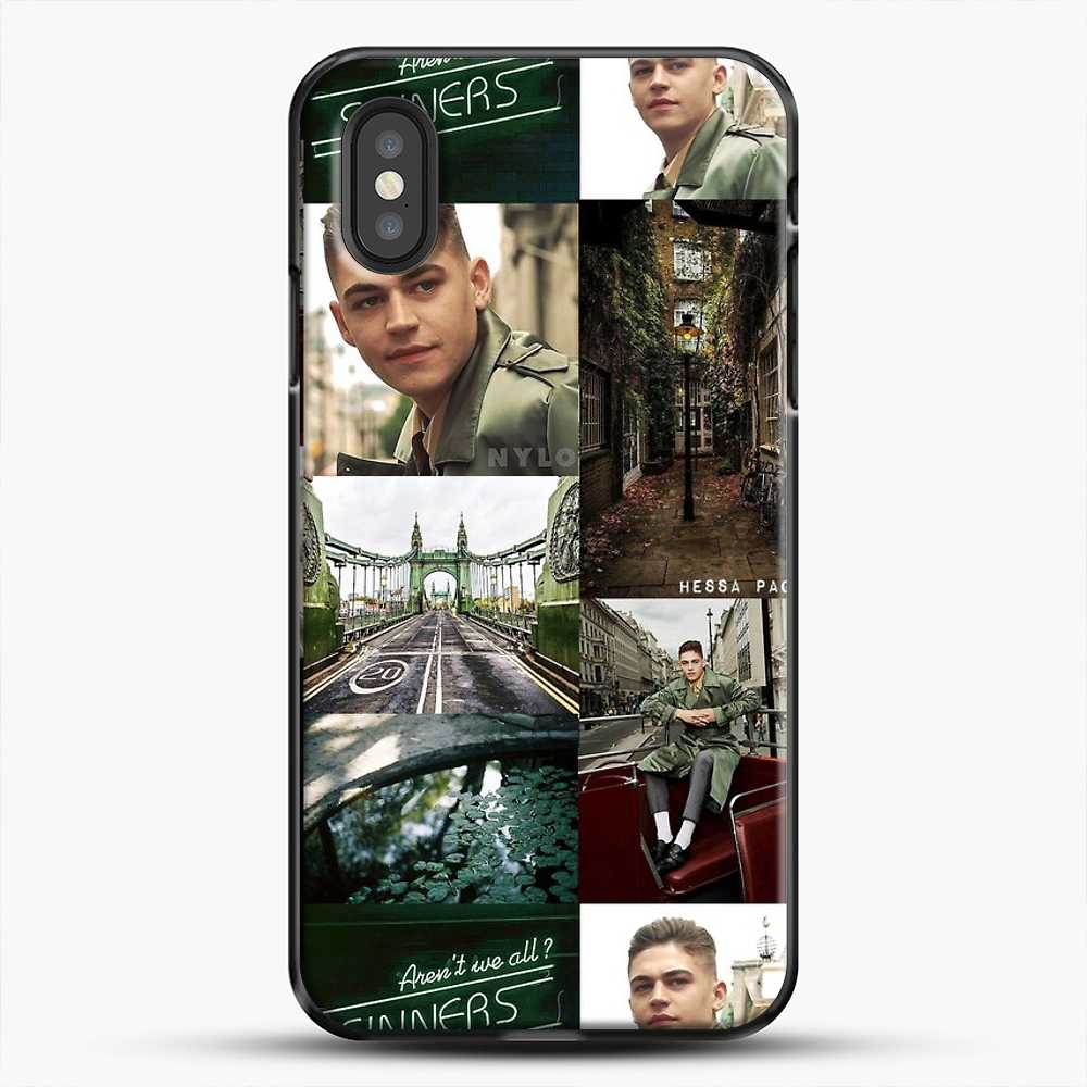 Hero Fiennes Tiffin London Green iPhone XS Case, Black Plastic Case | JoeYellow.com
